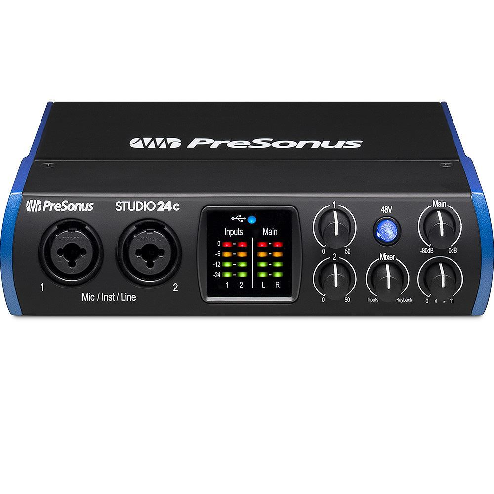 Presonus Studio Series 24c 2x2 USB - C Audio Interface Front