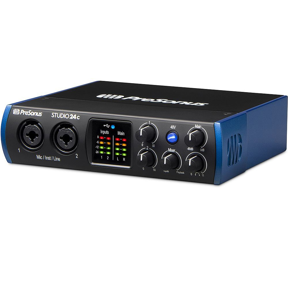 Presonus Studio Series 24c 2x2 USB - C Audio Interface Left