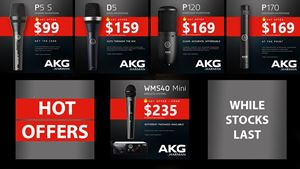 Hot Deals on AKG Microphones