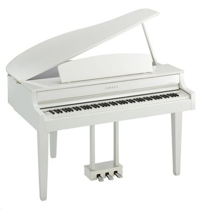 Yamaha CLP665GPWH Clavinova Digital Piano with Bench - White