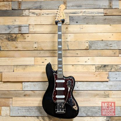 Fender Squier Classic Vibe Bass VI Bass Guitar - Indian Laurel - Black Front