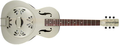 Gretsch G9201 Honey Dipper Round Neck Brass Body Resonator Guitar - Shed Roof Front