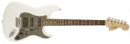 Squier Affinity Series Stratocaster HSS Electric Guitar - Indian Laurel - Olympic White Front