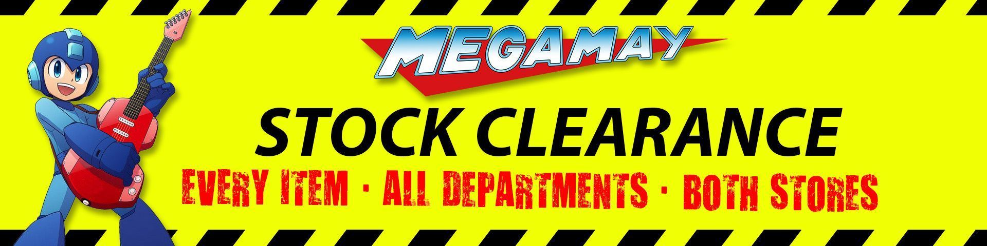 Mega May Stock Clearance - Every Item on Sale