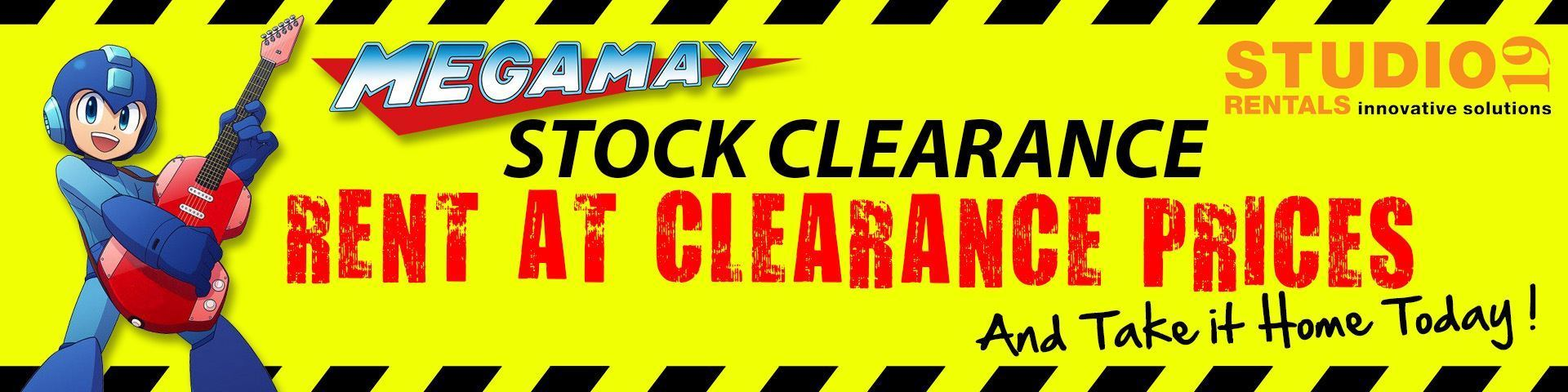 Mega May Stock Clearance - Rent Now