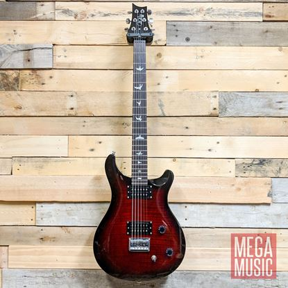 PRS SE 277 Baritone Electric Guitar - Fire Red Burst Front