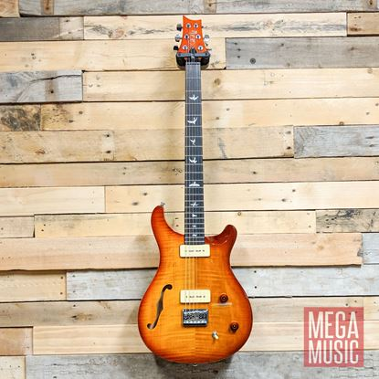 PRS SE 277 Semi-Hollow Soapbar Baritone Electric Guitar - Vintage Sunburst Front