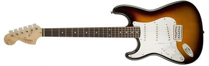 Squier Affinity Stratocaster Left Handed Electric Guitar - LRL - Brown Sunburst Front