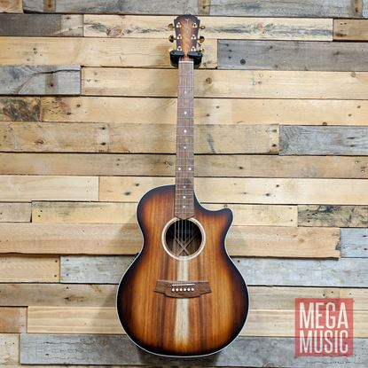 Cole Clark Angel 2 Acoustic Guitar - All Blackwood Sunburst Front