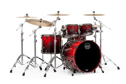 Mapex Saturn V 4-Piece Fast Shell Pack Drum Kit with 22 inch Kick - Cherry Mist Maple Burl - Front