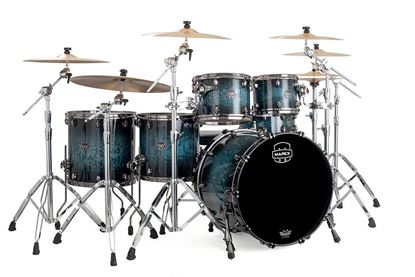 Mapex Saturn V 5-Piece Shell Pack Drum Kit with 22 inch Kick - Deep Water Maple Burl