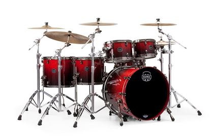 Mapex Saturn V 5-Piece Fast Shell Pack Drum Kit with 22 inch Kick - Cherry Mist Maple Burl - Front