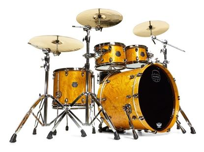 Mapex Saturn V 5-Piece Fast Shell Pack Drum Kit with 22 inch Kick - Amber Maple Burl