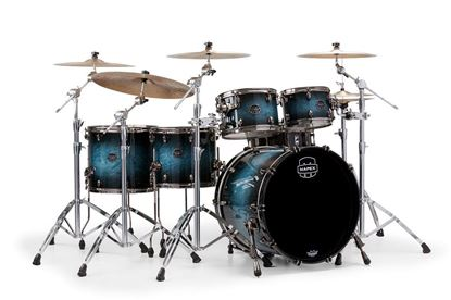 Mapex Saturn V 5-Piece Fast Shell Pack Drum Kit with 22 inch Kick - Deep Water Maple Burl Front