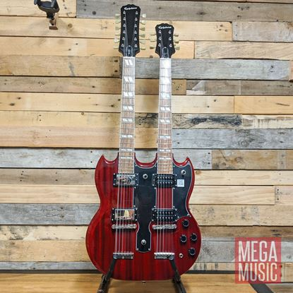 G-1275 Double Neck in Cherry Front
