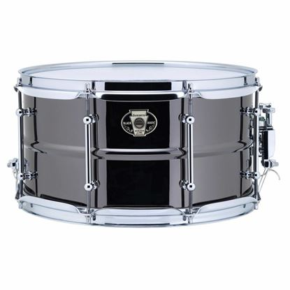 Ludwig 7x13 Black Magic Snare with Chrome Die-Cast Hoops & Tube Lugs - Front