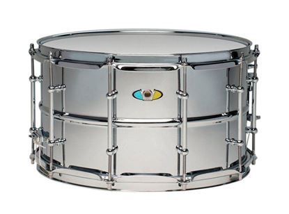 Ludwig 8x14 Supralite Steel Snare Drum Front