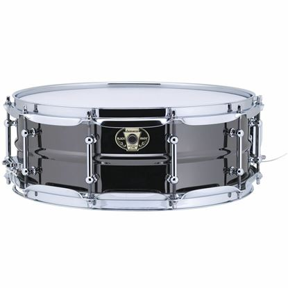 Ludwig 5.5x14 Black Magic Snare with Chrome Die-Cast Hoops & Tube Lugs - Front
