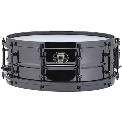 Ludwig 5.5x14 Black Magic Snare with Black Nickel Die-Cast Hoops & Tube Lugs - Head