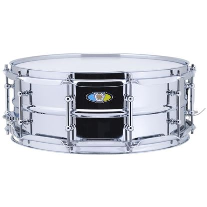Ludwig 5.5x14 Supralite Steel Snare Drum - Front