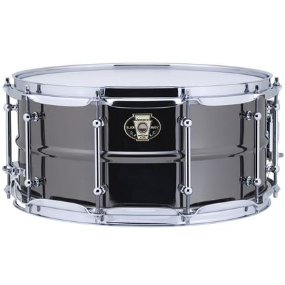 Ludwig 6.5x14 Black Magic Snare with Chrome Die-Cast Hoops & Tube Lugs - Front