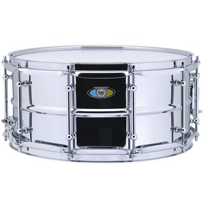 Ludwig 6.5x14 Supralite Steel Snare Drum - Front