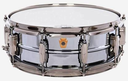 Ludwig ''Super Ludwig'' Chrome Over Brass Snare Drum with Nickel Hardware - 5x14 - Front