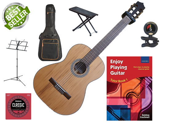 Katoh MCG35C Classical Guitar Complete Bundle (SIMS APPROVED)