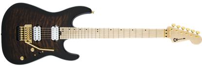 Charvel Pro Mod DK24 HH Floyd Rose Electric Guitar MN Quilt Maple - Root Beer Burst