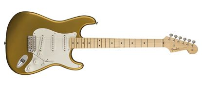 Fender American Original 50s Stratocaster Electric Guitar - Maple Neck - Aztec Gold - Front