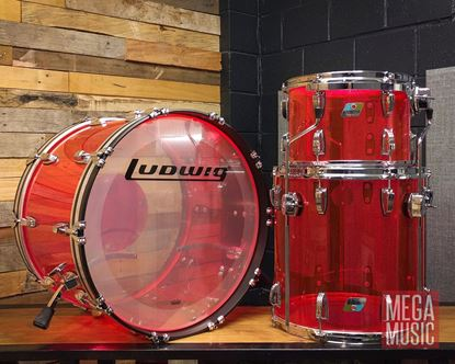 Ludwig Vistalite FAB 22inch 3-Piece Drum Kit in Pink