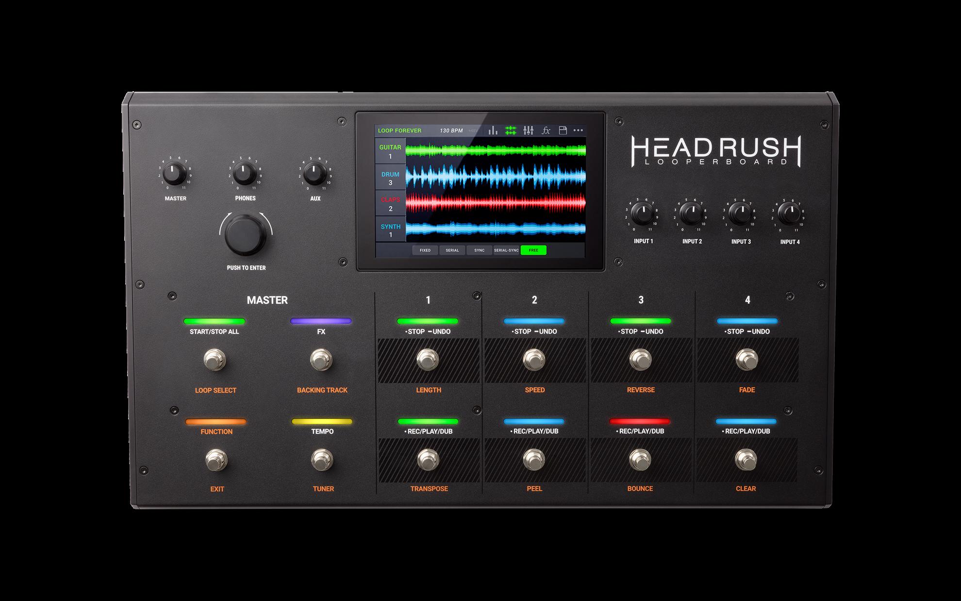 Headrush Looperboard Looper Effects Pedal - Front