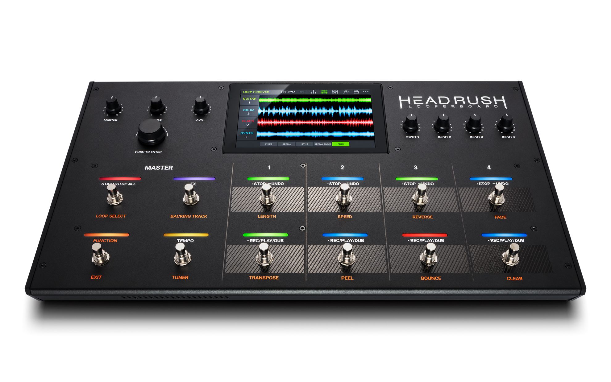 Headrush Looperboard Looper Effects Pedal - Angle Front