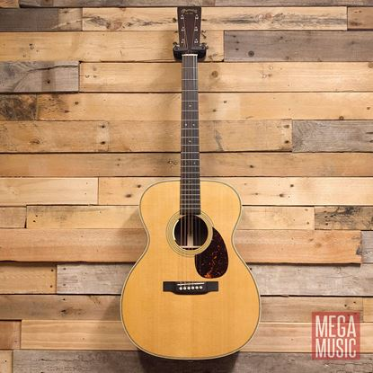 Martin OM-28E Standard Series Acoustic Guitar with LR Baggs Anthem Pickup Front
