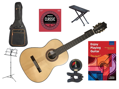 Katoh MCG50S Classical Guitar Deluxe Bundle (SIMS APPROVED)