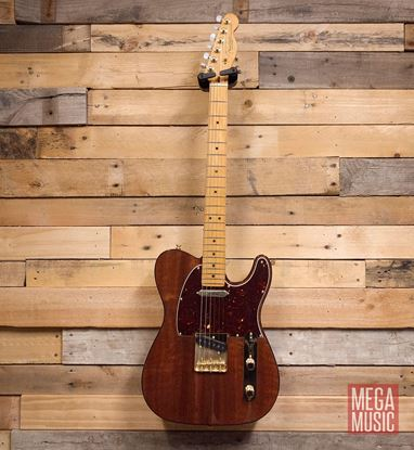 Fender 2019 Rarities Collection Red Mahogany Top Telecaster Natural Front