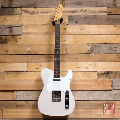 Fender Jimmy Page Mirror Telecaster Electric Guitar RW - White Blonde - Front