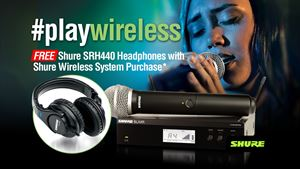 FREE Shure SRH440 Headphones with Shure Wireless System