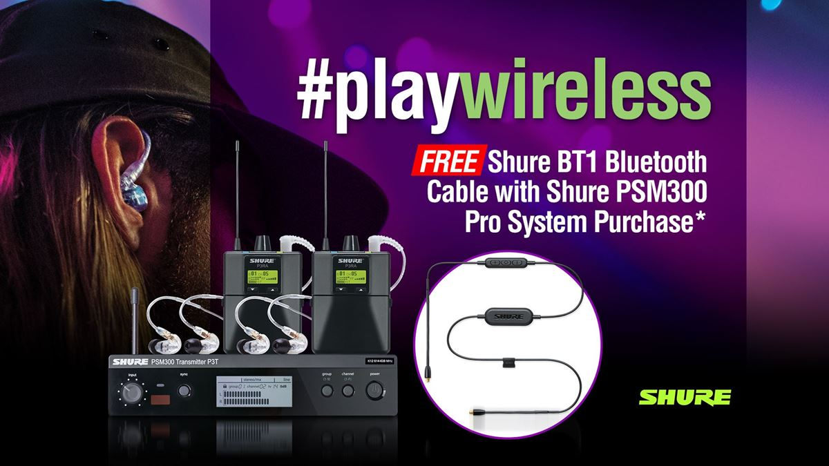 FREE Shure BT1 Bluetooth Upgrade with Shure PSM300 Pro