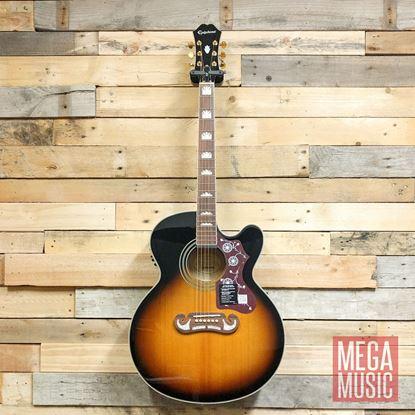 Epiphone EJ200SCE Acoustic Guitar Vintage Sunburst - Front