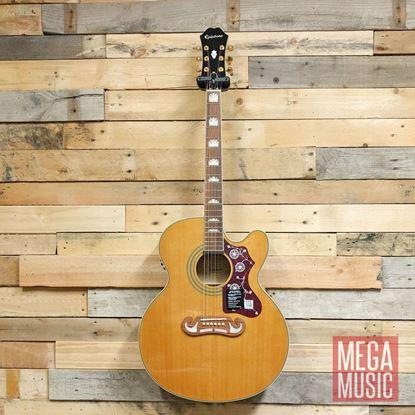 Epiphone EJ200SCE Acoustic Guitar Vintage Natural - Front
