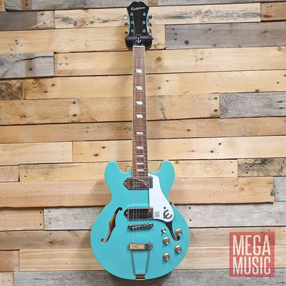 Epiphone Casino Coupe Electric Guitar Turquoise Front