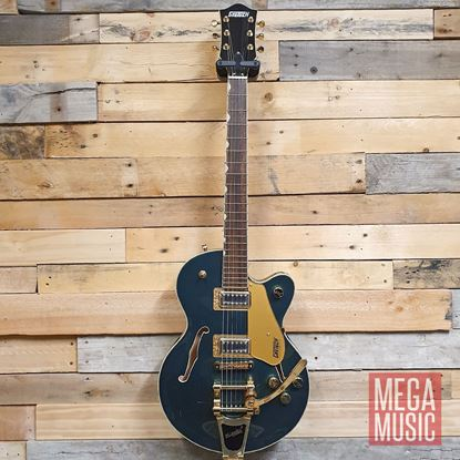 Gretsch G5655TG Electromatic Centre Block Jr Electric Guitar LRL Cadillac Green Front