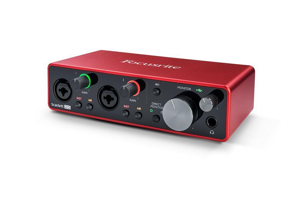 Focusrite Scarlett 2i2 3rd Gen Audio Interface Alt Angle