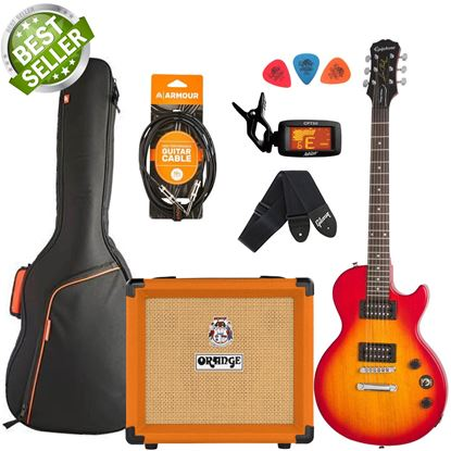 Epiphone Les Paul Special VE & Orange Crush 12 Guitar & Amp Starter Pack - Heritage Cherry Sunburst