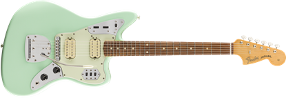 Fender Vintera 60s Jaguar Modified HH Electric Guitar PF - Surf Green - Front