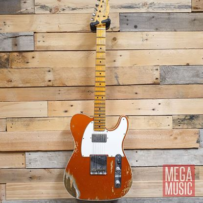 Fender Custom Shop Limited Edition 1965 HS Telecaster Custom Heavy Relic Electric Guitar - Faded/Aged Candy Tangerine Front