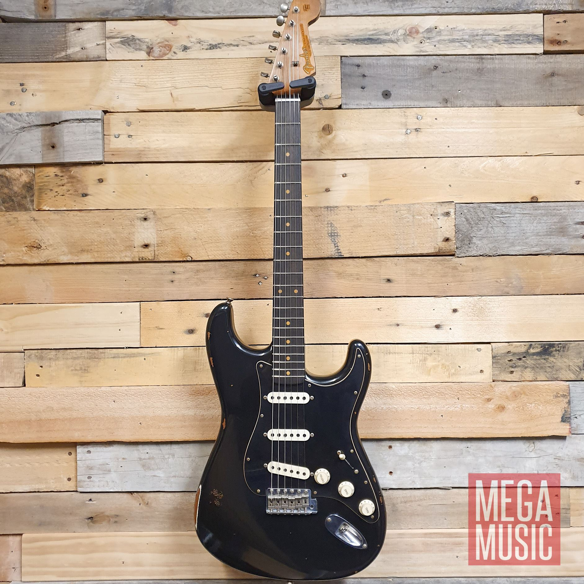 Fender Custom Shop Limited Edition Roasted Poblano Stratocaster Relic  Electric Guitar - Aged Black
