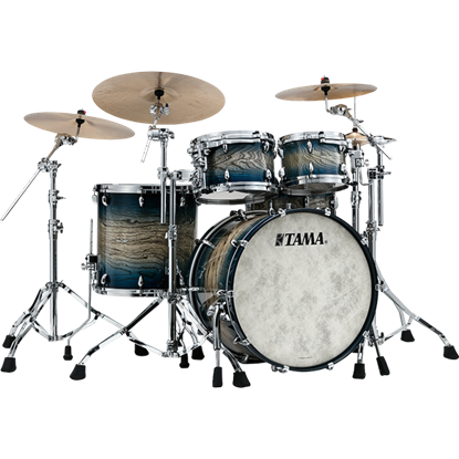 Tama TW42ZSA IJB Star Walnut 22 inch 4 piece Shell Pack - Indigo Japanese Sen Burst