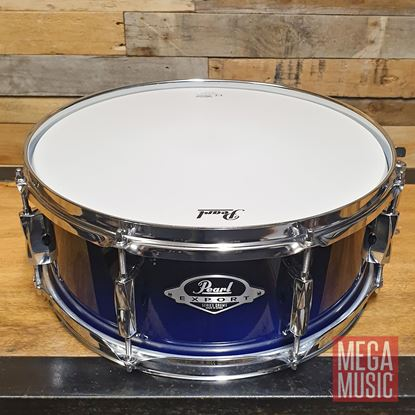 Pearl Export 14x5.5 inch Snare Drum - Sea Blue Fade - Front